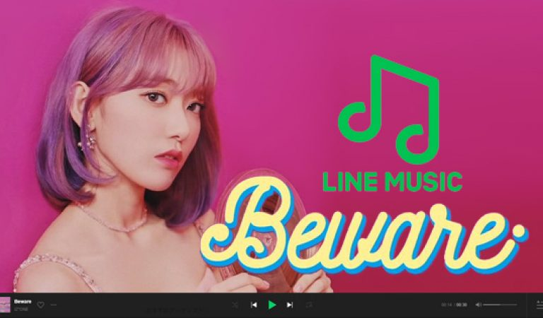 Beware ของ IZ * ONE ติดอันดับที่ 1 ใน LINE MUSIC