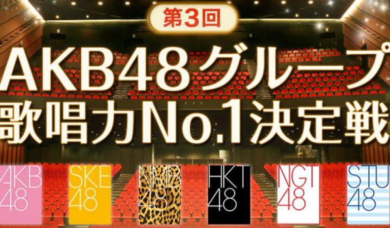ผลการแข่งขันร้องเพลง AKB48 Group No. 1 รอบคัดเลือกครั้งที่ 3